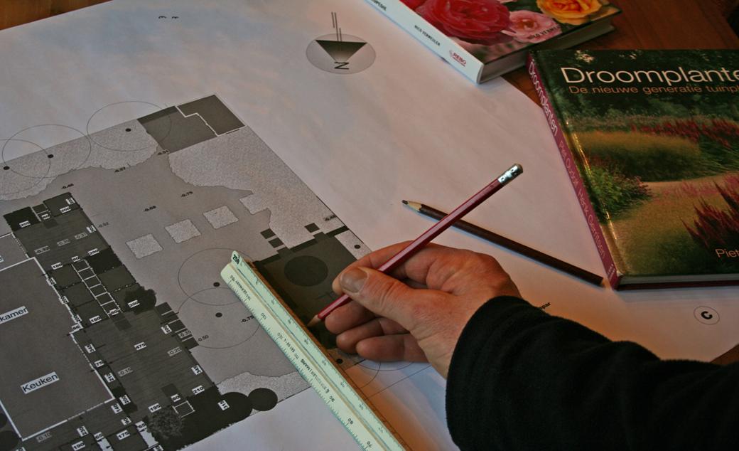 tekenen tuinontwerp door geral overbeek